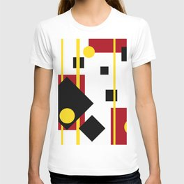 Geometric Rectangles Black T-shirt