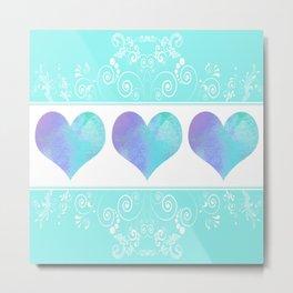 Design of Hearts Metal Print