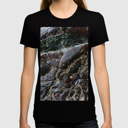 Ocean Weathered Natural Rock Texture with Barnacles T-shirt