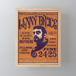 Affiche lenny bruce fillmore auditorium. 1966 Framed Mini Art Print