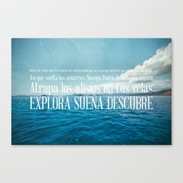 EXPLORA SUEÑA DESCUBRE Canvas Print