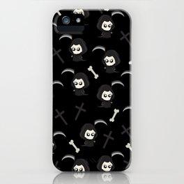 Cute Grim Reaper Pattern iPhone Case