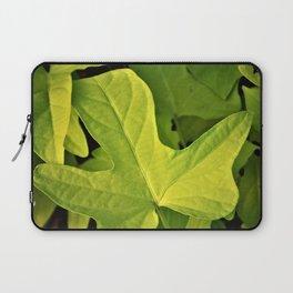 Golden Green Oak Leaves Laptop Sleeve