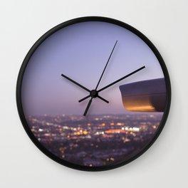 Angel City Lights, L.A. at Night, No. 3 Wall Clock