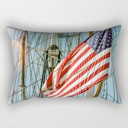 Sailing Ship Flag Rectangular Pillow