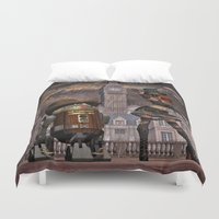 sci fi Duvet Covers featuring Steampunk Sci-Fi 2 by gypsykissphotography