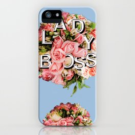 Lady Boss Floral Bouquet iPhone Case