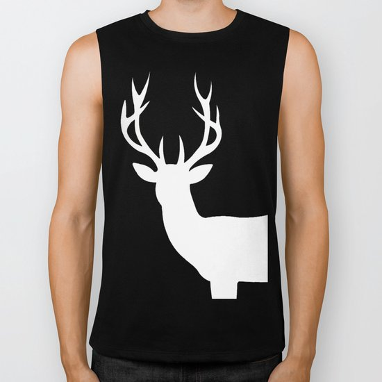 The White Deer  Biker Tank