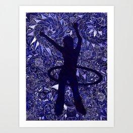 Hoop Dreams (Hula Hooper and Mandalas) Art Print