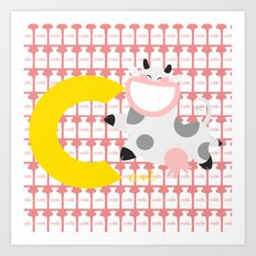 c for cow Art Print