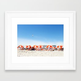 Cape May Umbrellas Framed Art Print