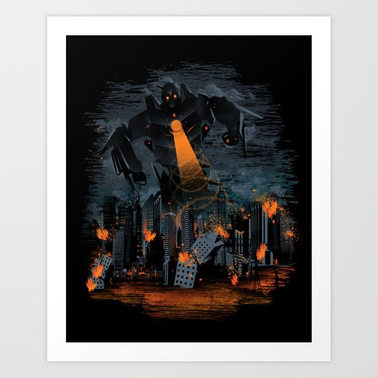 Evil Will Burn Art Print