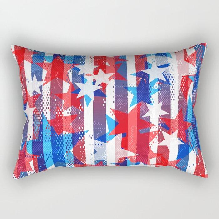 AMERICANA PATTERN Rectangular Pillow
