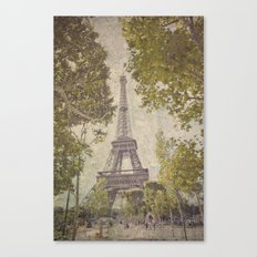 The painted Eiffel Canvas Print