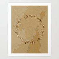 lotr Art Prints featuring One Ring (LOTR Fan Art) by Davide Fiume