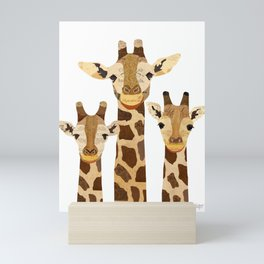 Giraffe Collage Mini Art Print