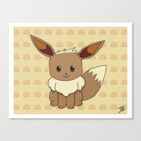 eevee Canvas Prints featuring Eevelution - Eevee by UncannyViolet