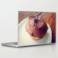 cupcake Laptop & iPad Skins featuring Cupcake by Inky Bits Designs