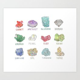 All the Gemstones in One! Art Print