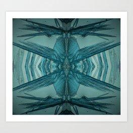 Copper Nitrate Crystals Art Print