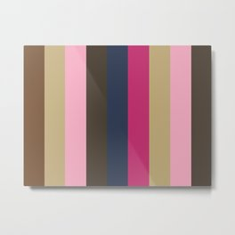 SENTIMENT:(S)epia (E)cru (N)adeshiko Pink (T)aupe (I)ndigo (M)agenta (E)cru (N)adeshiko Pink (T)aupe Metal Print