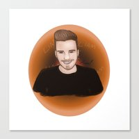 liam payne Canvas Prints featuring Liam Payne by _ARTISTAGRAM_