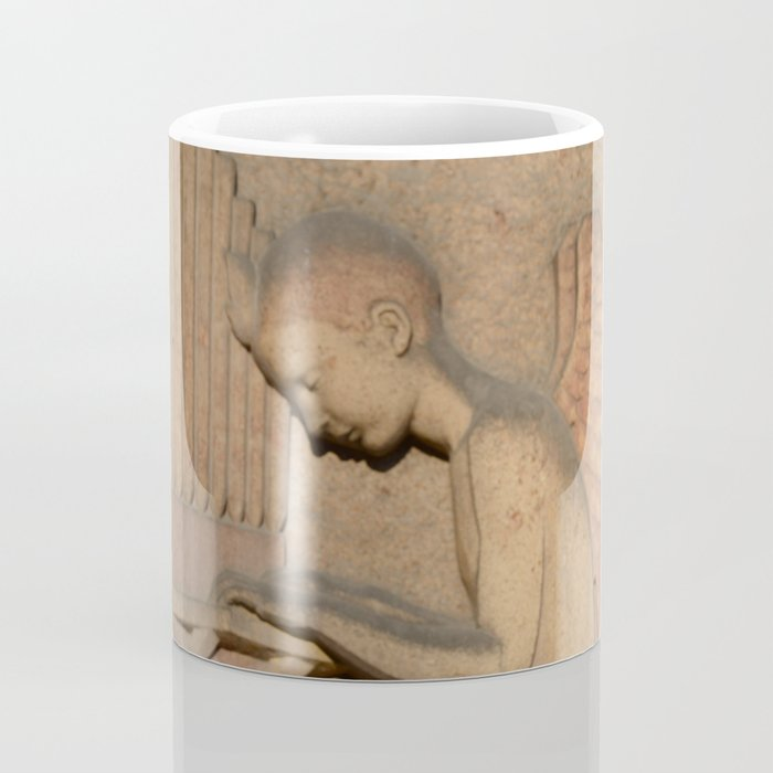 Angel playing organ at the Church of St. Odile Coffee Mug