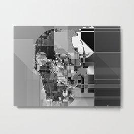 metallic skull on code Metal Print