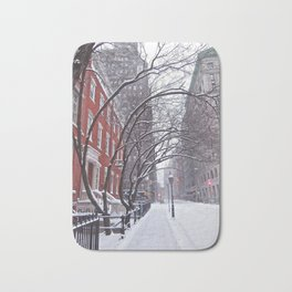 Snow Streets, Washington Square North Bath Mat