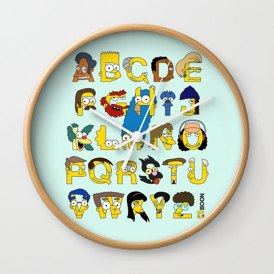 Simpsons Alphabet Wall Clock