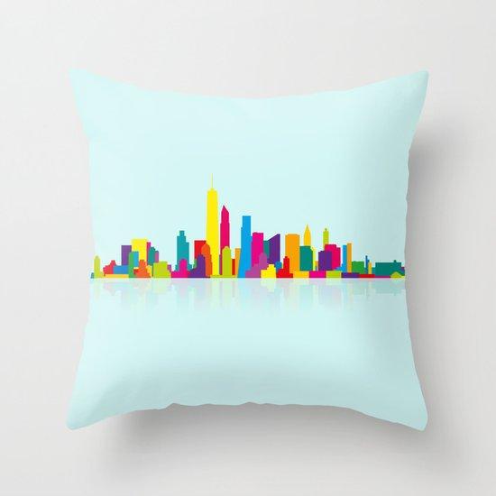 New WTC Skyline Throw Pillow