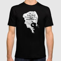 Boy's best friend – Norman Bates Psycho Silhouette Quote MEDIUM Mens Fitted Tee Black