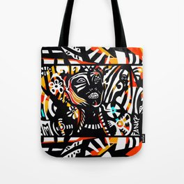 Funky Woman (Colors) Tote Bag