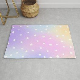 Kawaii Rainbow Glow Stars Rug