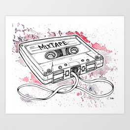 Mixtape (Splash Music) Art Print