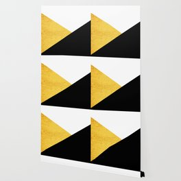Gold & Black Geometry Wallpaper