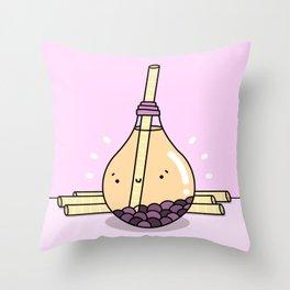 Boba Tea Buddy Throw Pillow