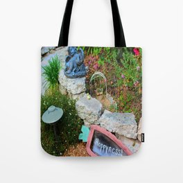 Nap in the Garden, California Style Tote Bag