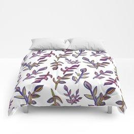 Watercolour Leaf Print Comforters