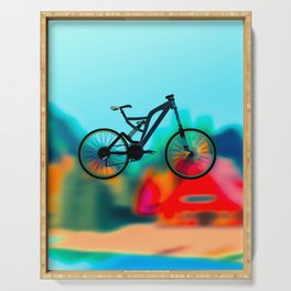colourful  bike Serving Tray