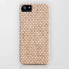 Beige flax cloth texture abstract iPhone Case