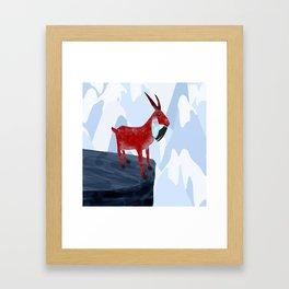 Mountain Goat Design Framed Art Print