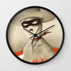 Wild wild death Wall Clock