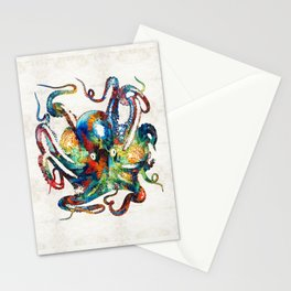 Colorful Octopus Art by Sharon Cummings Stationery Cards