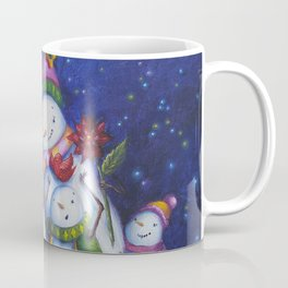 Snow Family Portrait Coffee Mug