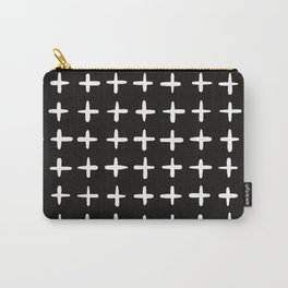 Plus sign black and white Carry-All Pouch
