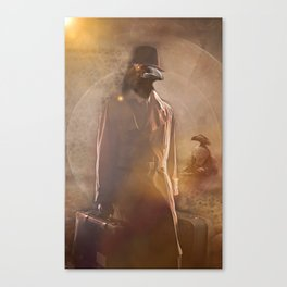 Crow Man Traveling Canvas Print