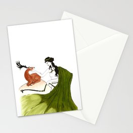 The Lady Artemis, The Goddess of the Hunt Stationery Cards
