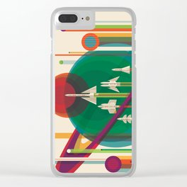 NASA Retro Space Travel Poster #5 Clear iPhone Case