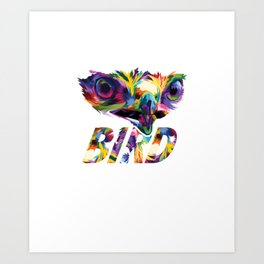 Addicted To Bird Watching Birding Wildlife Birders Nature Bird Lovers Gift Art Print